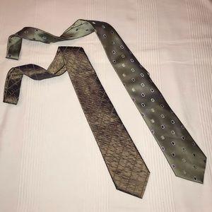 BCBG Silk Ties.  Fantastic Condition!!